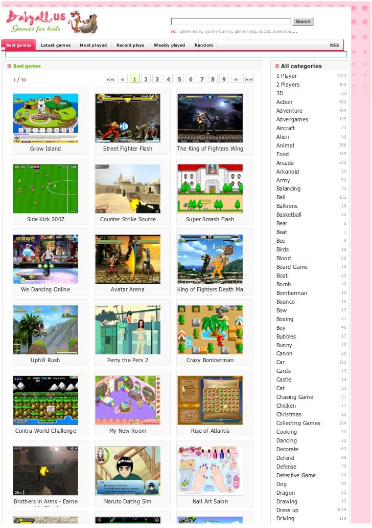 Search                                                                             vd: game mario, gunny bunny, game ninja...