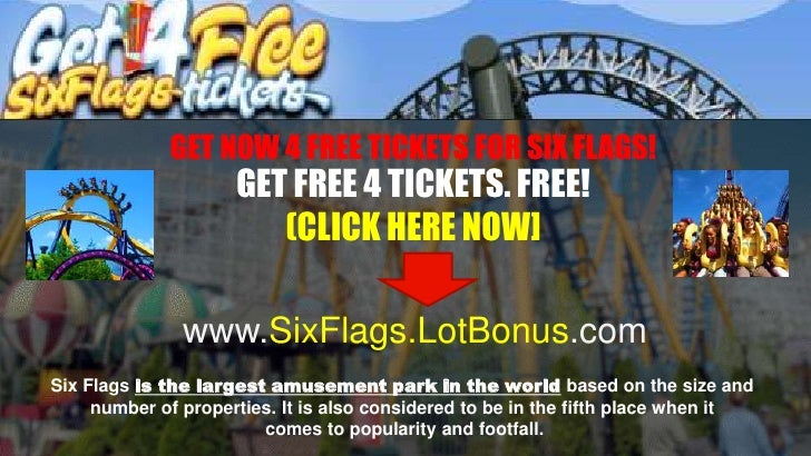 Cheap Six Flags Tickets >> [Free] get your free six flags tickets 2012