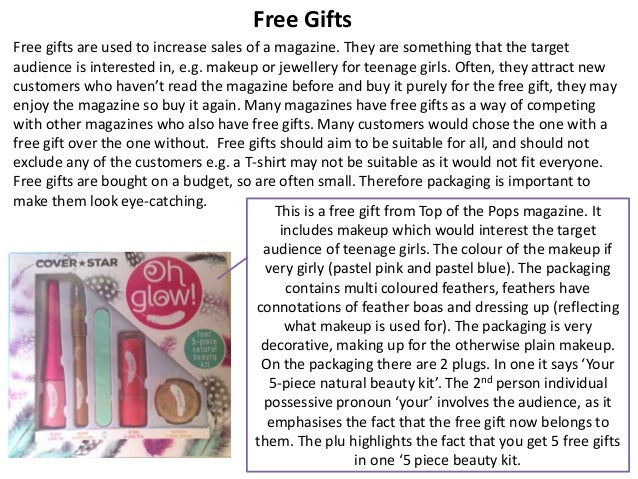 Free Gifts in Pop Music Magazines