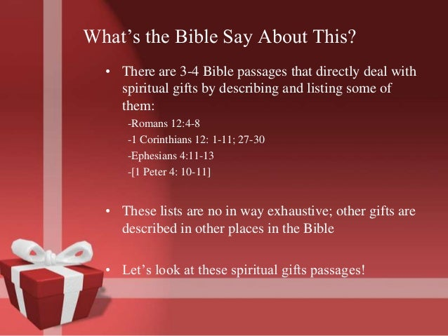 Spiritual gifts presentation gifts for 6 whats the bible negle Images
