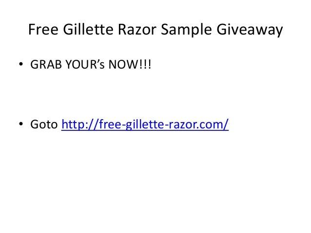 Free gillette razor sample giveaway