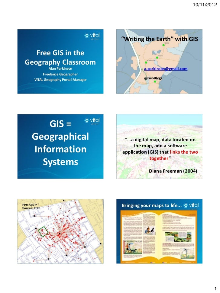 """10/11/2012                                        """"Writing the Earth"""" with GIS    Free GIS in the Geography Classroom     ..."""