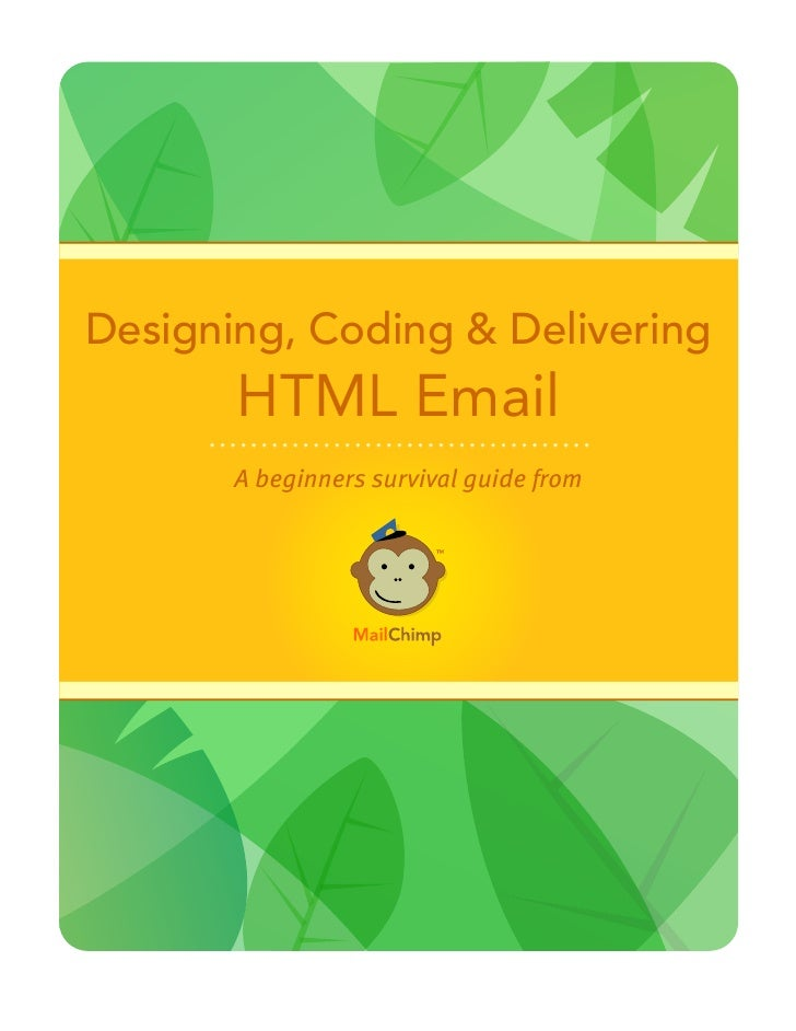 Designing, Coding & Delivering        HTML Email        A beginners survival guide from