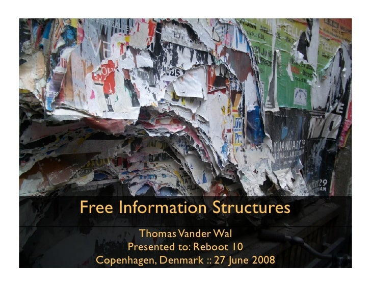Free Information Structures          Thomas Vander Wal        Presented to: Reboot 10   Copenhagen, Denmark :: 27 June 2008