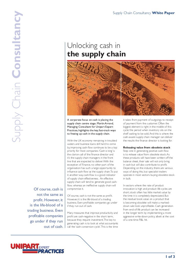 Supply Chain Consultancy White PaperSupply Chain Consultancy                                                       Unlocki...