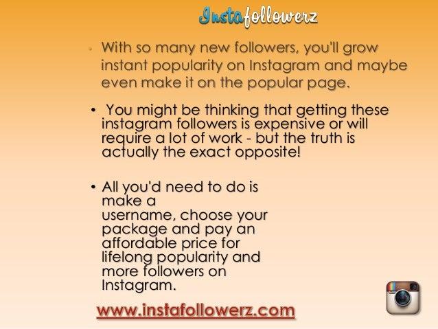 Free instagram follower generator