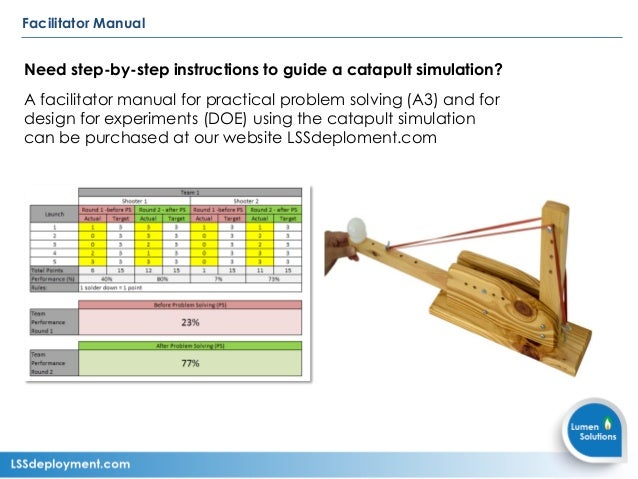 Catapult Simulation Instructions For Lean Six Sigma Training