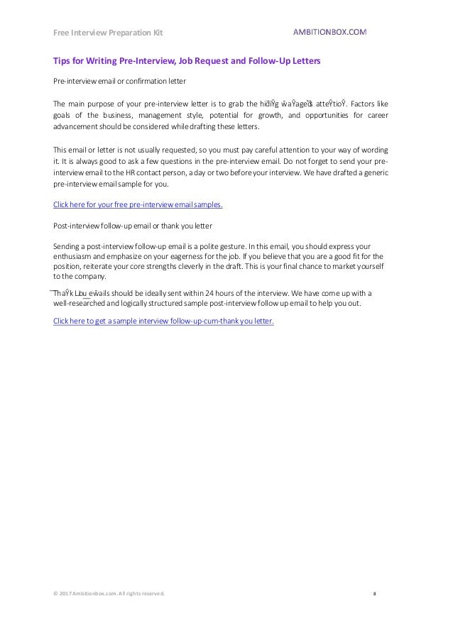 post interview follow up email samples