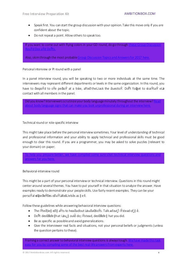 Free Interview Preparation Kit for Jobseekers (from