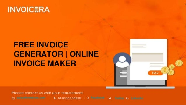 how to generate online invoice invoice generator