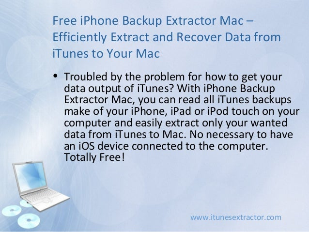 Free iPhone Backup Extractor Mac: Extract Data from iPhone