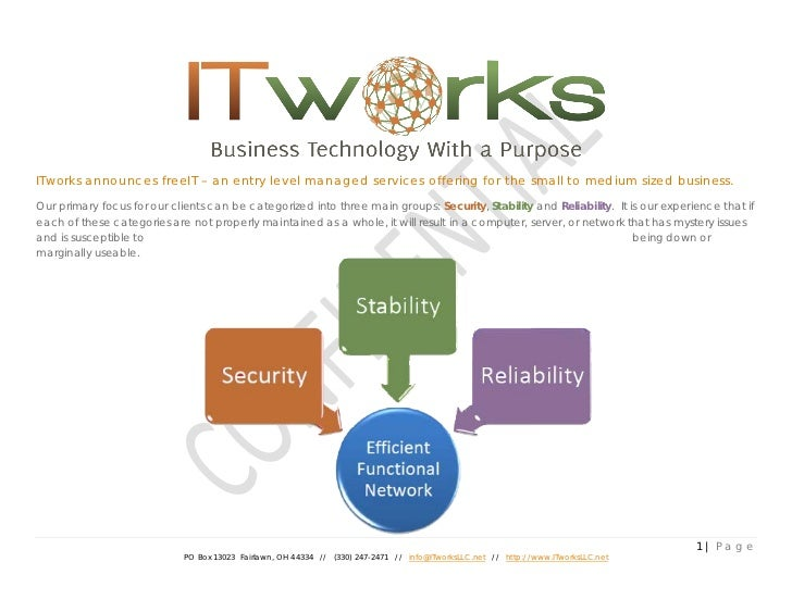 ITworks announces freeIT – an entry level managed services offering for the small to medium sized business.Our primary foc...