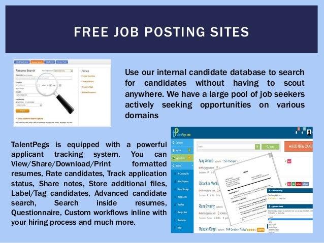 online resume posting