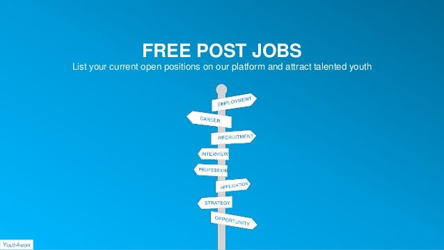 Youth4work Innovative Job Posting Tool and it's FREE!