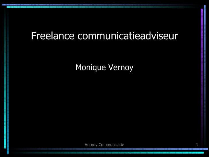 Freelance communicatieadviseur Monique Vernoy