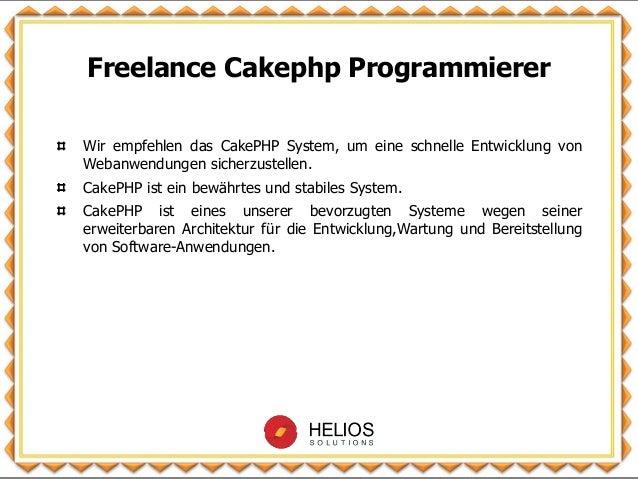 Freelance Cakephp Programmierer Slide 2