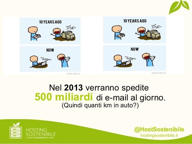 @HostSostenibilehostingsostenibile.itNel 2013 verranno spedite500 miliardi di e-mail al giorno.(Quindi quanti km in auto?)