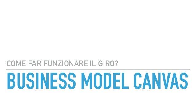 BUSINESS MODEL CANVAS COME FAR FUNZIONARE IL GIRO?