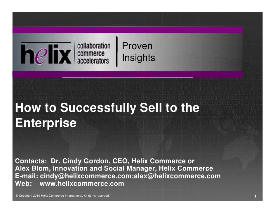 Proven                                                                       Insights     How to Successfully Sell to the ...
