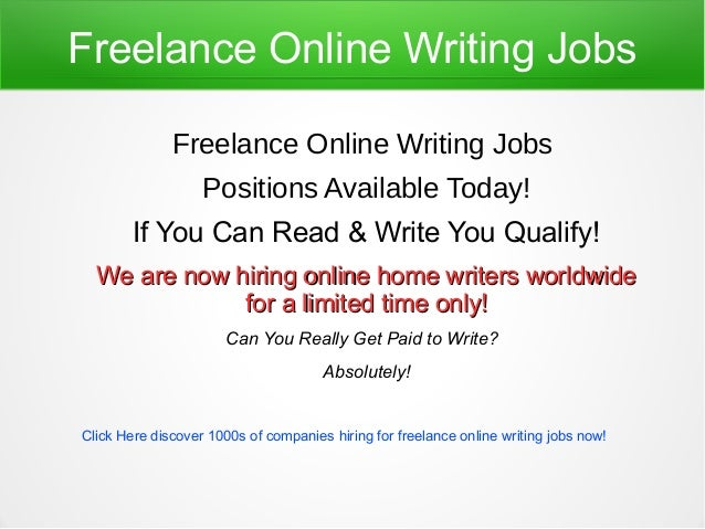 Online writing careers