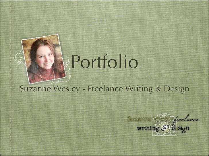PortfolioSuzanne Wesley - Freelance Writing & Design