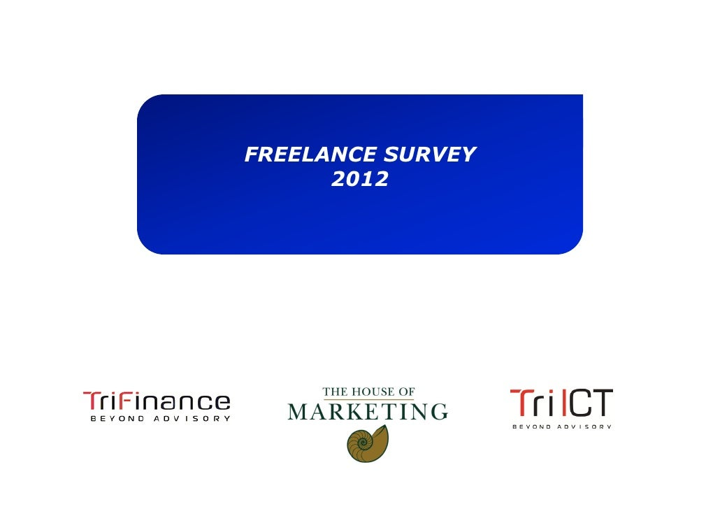 FREELANCE SURVEY      2012