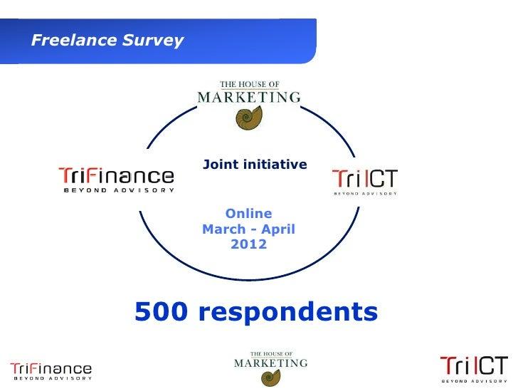 Freelance Survey                          Joint initiative                            Online                          Marc...