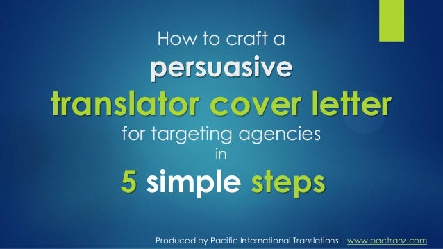 the proven 5 step formula to an effective translator cover letter