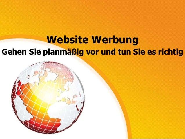 Website Werbung Gehen Sie planmäßig vor und tun Sie es richtig