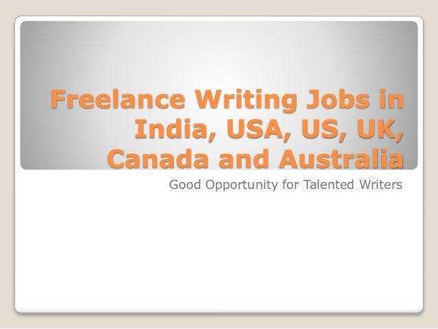 Creative Writing Jobs in Canada