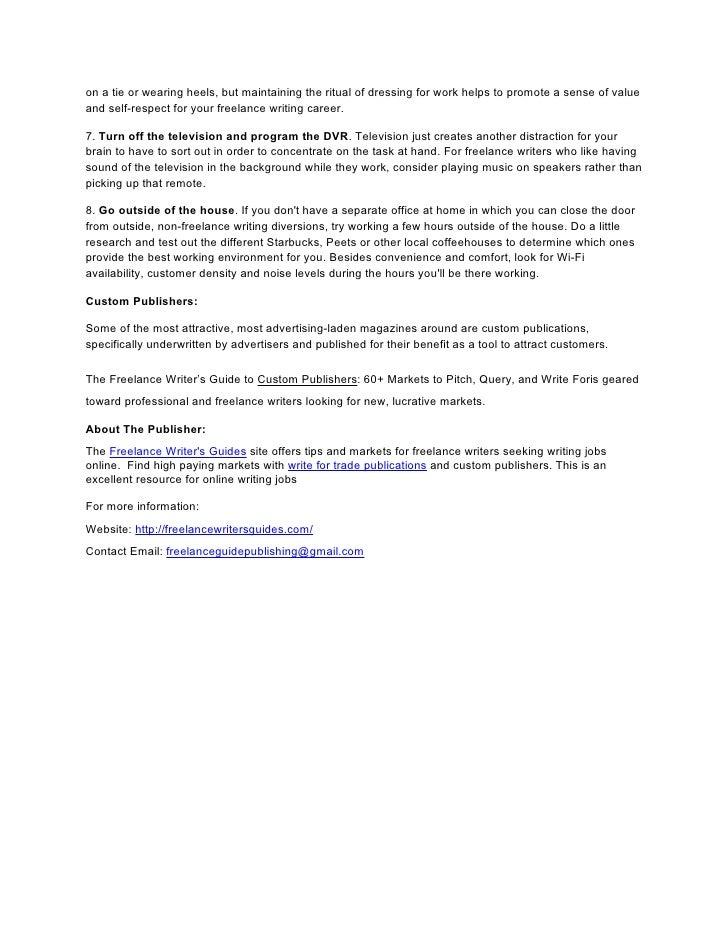 Freelance Writing Jobs Online And Custom Publishers