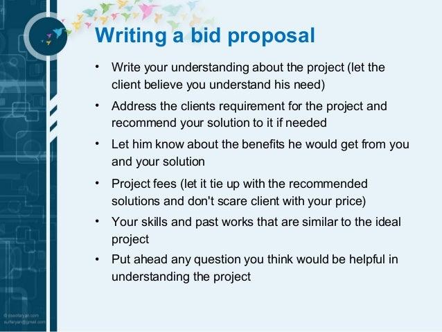 Doc642410 Bidding Proposal Sample Bid Proposal Template 6 – Bidding Proposal Sample