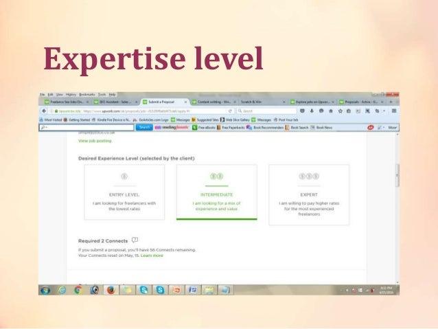 Expertise level