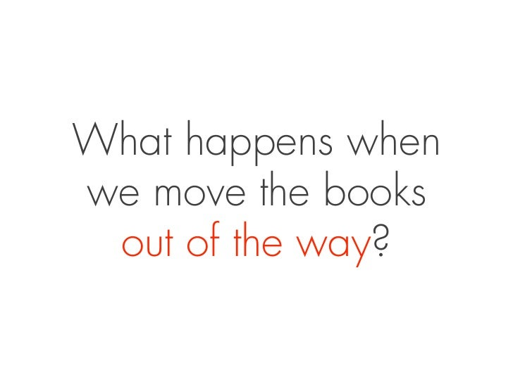 What happens whenwe move the books out of the way?