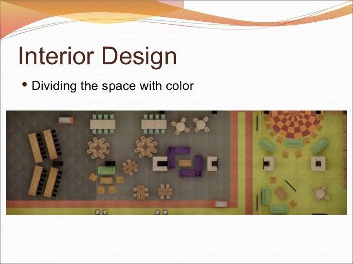Interior Design <ul><li>Dividing the space with color </li></ul>