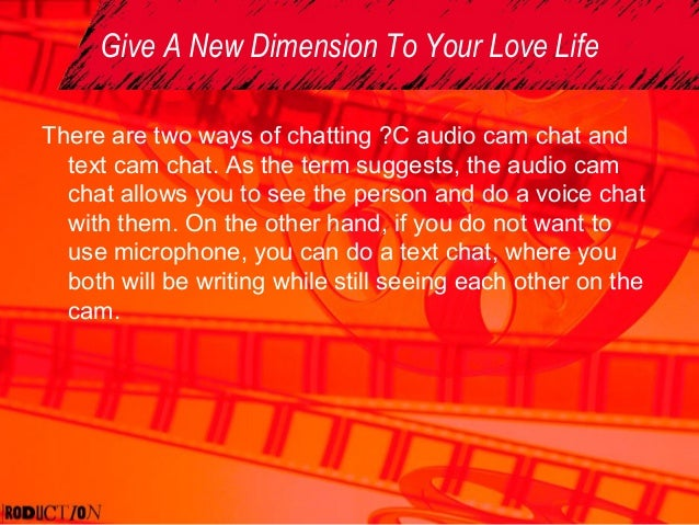 Free live cam chat room- an easy path towards a strong relationship slideshare - 웹