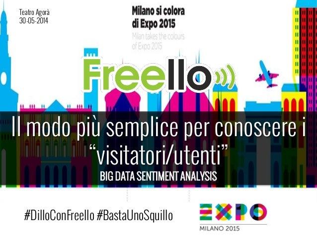 """Il modo più semplice per conoscere i """"visitatori/utenti"""" BIG DATA SENTIMENT ANALYSIS #DilloConFreello #BastaUnoSquillo Tea..."""