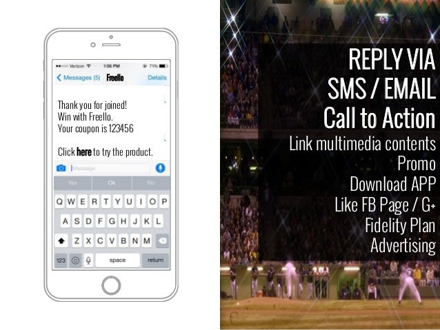 REPLY VIA SMS / EMAIL Call to Action Link multimedia contents Promo Download APP Like FB Page / G+ Fidelity Plan Advertisi...