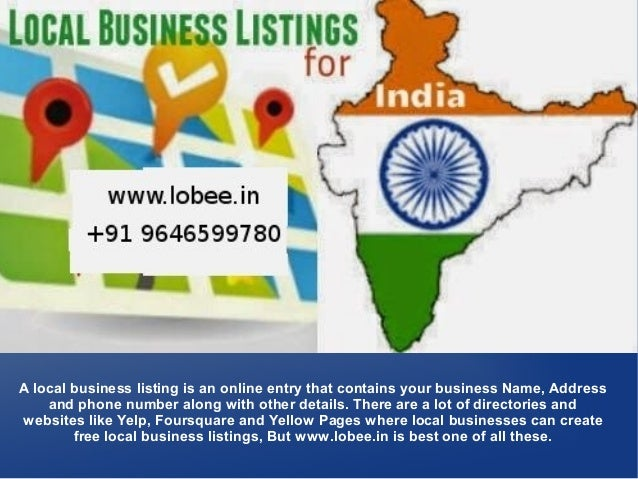 Free Local Business Listings in India