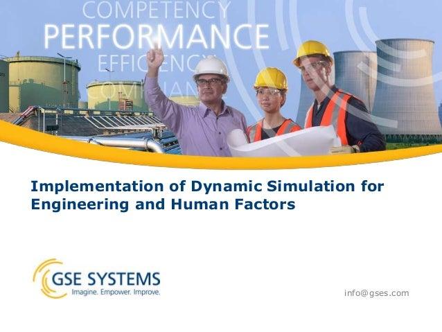 human factors and simulation dating