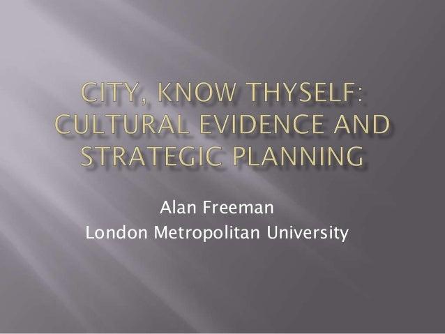 Alan Freeman London Metropolitan University