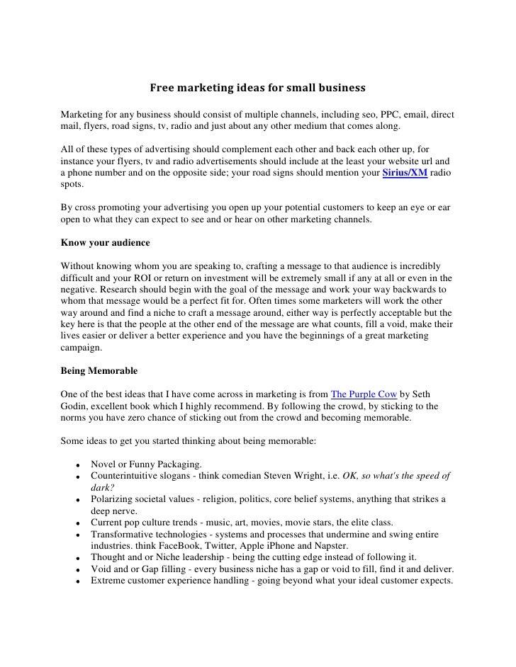 "HYPERLINK "" http://www.seobocaraton.com/seoblog/post/marketing-ideas-for-small-business.aspx""  o "" free marketing ideas f..."
