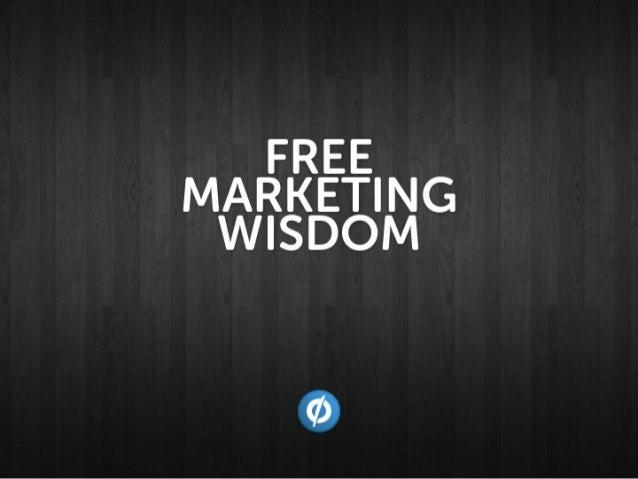 Free Marketing Wisdom