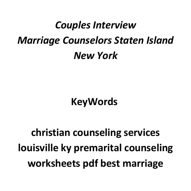 Free marriage counseling ocean county nj – Premarital Counseling Worksheets