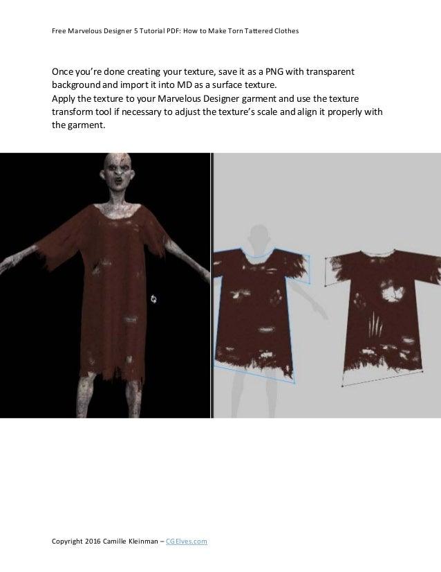 Free Marvelous Designer 5 Tutorial Pdf How To Make Torn Tattered Clo