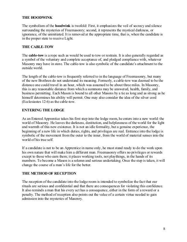 freemasonry 134 the entered apprentice handbook rh slideshare net Entered Apprentice Degree Ritual Entered Apprentice Degree Ritual