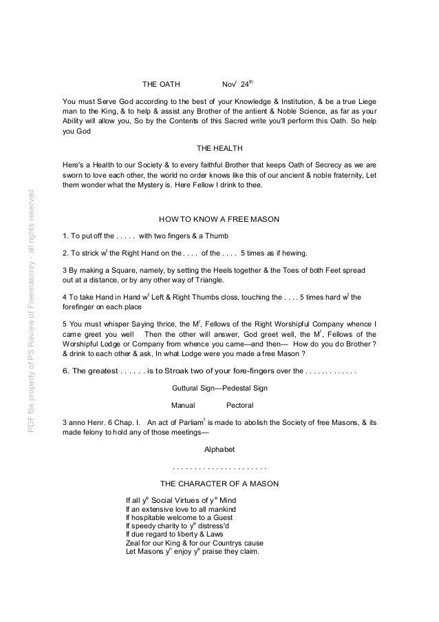 Freemasonry 137 institution of freemasons 1725c a adieu pdffilepropertyofpsreviewoffreemasonry allrightsreserved 3 m4hsunfo