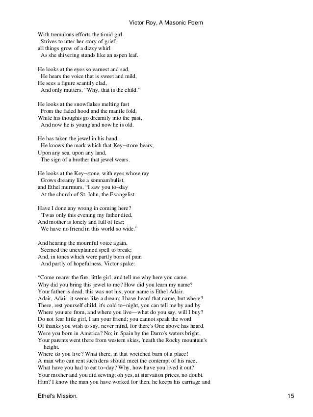 Freemasonry 143 victor roy- a masonic poem