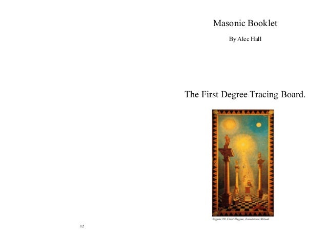 Freemasonry 146 tracing board 12 masonic booklet by alec hall the first degree tracing board pronofoot35fo Images