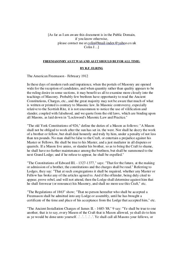 Image Result For As Far As I Am Aware This Document Is In The Public Domain